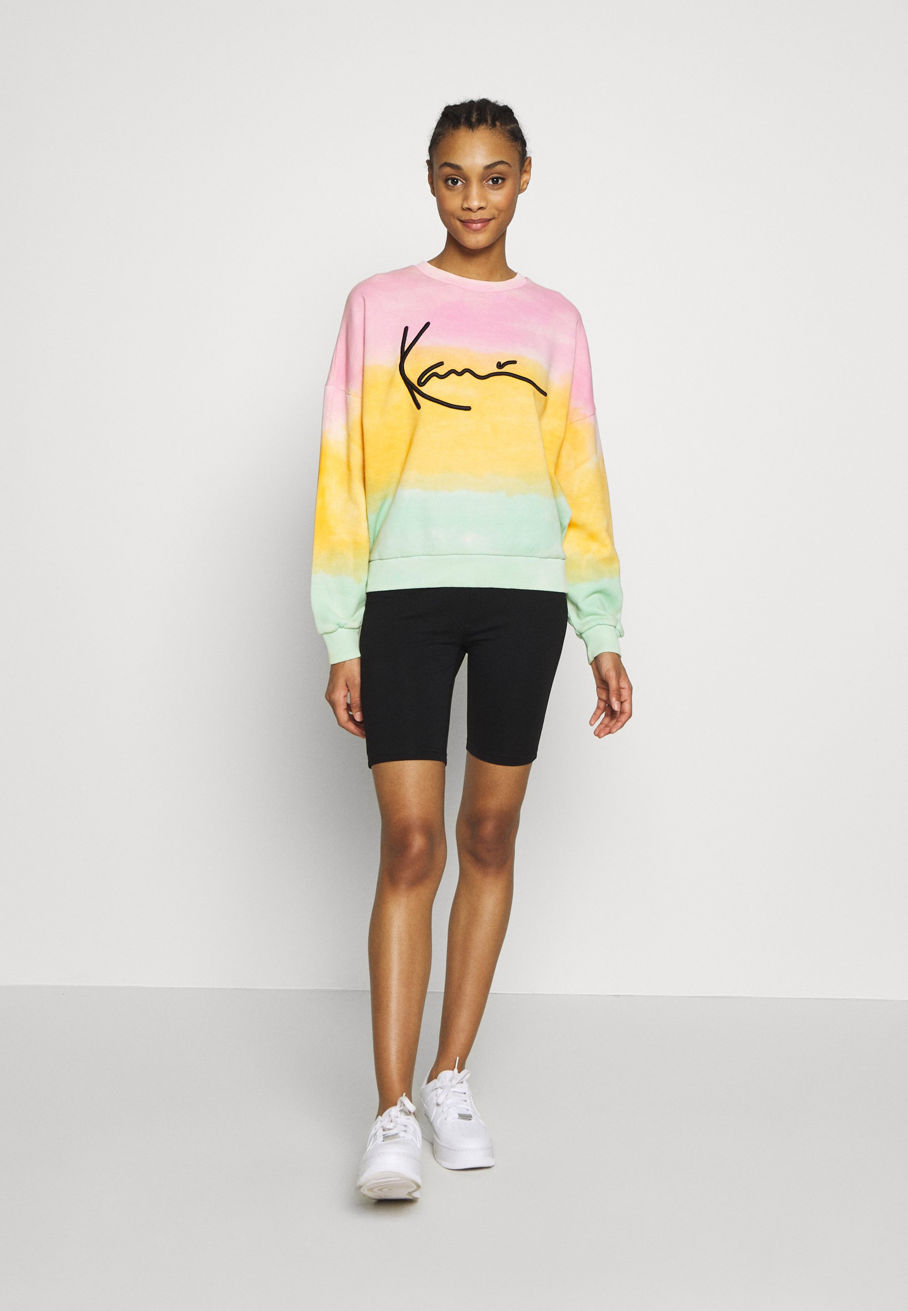 Karl Kani SIGNATURE GRADIENT CREW - Bluza - pink/orange/green