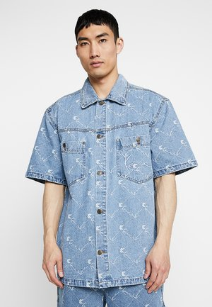 SIGNATURE SHORTSLEEVE - Camicia - denim/white