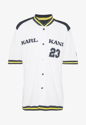 COLLEGE BASEBALL SHIRT - Košile - white/navy/yellow