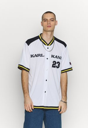 COLLEGE BASEBALL SHIRT - Chemise - white/navy/yellow