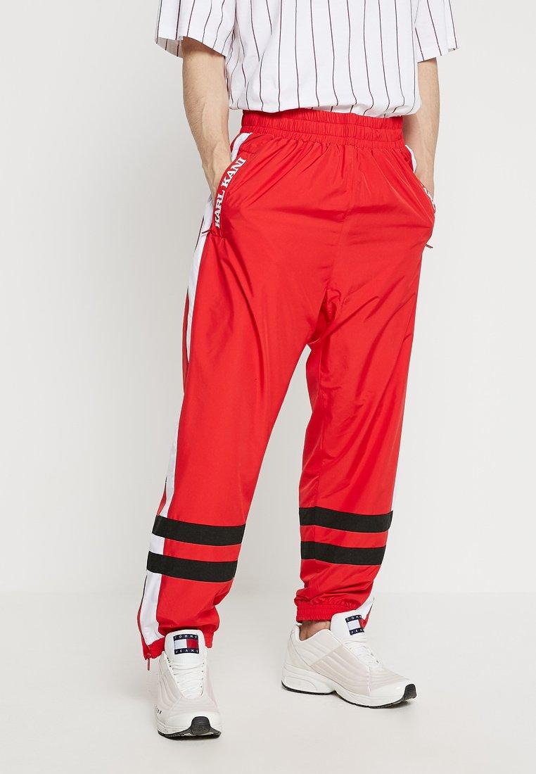 Karl Kani - RETRO TRACKPANTS - Pantalones deportivos - red/white/black