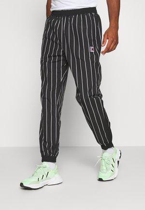 PINSTRIPE TRACK PANTS - Tracksuit bottoms - black
