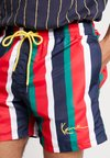 Karl Kani - SIGNATURE STRIPE - Shorts - navy/red/green/white