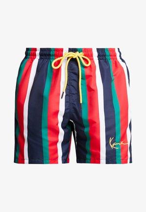 SIGNATURE STRIPE - Short - navy/red/green/white