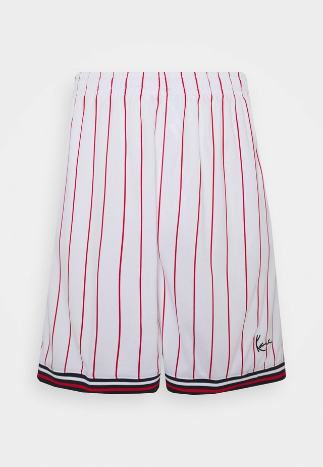 SIGNATURE PINSTRIPE - Shorts - white