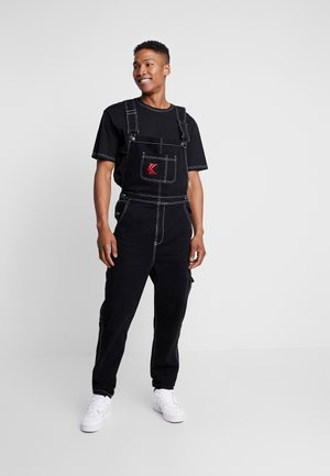 DUNGAREES - Jeans relaxed fit - black