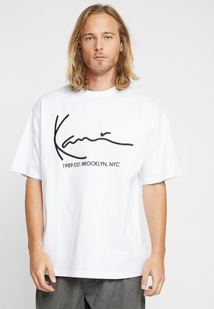 SIGNATURE TEE - T-Shirt print - white
