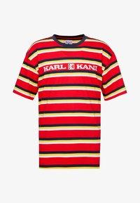 Karl Kani - RETRO STRIPE TEE - T-shirt med print - red/navy/yellow/white - 4