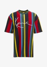 Karl Kani - SIGNATURE STRIPE TEE - T-Shirt print - green/yellow/black/blue - 4