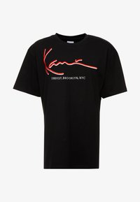 Karl Kani - SIGNATURE TEE - T-shirt con stampa - black/red - 3