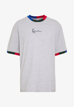 SIGNATURE RINGER TEE - T-shirt imprimé - grey/navy/green/red