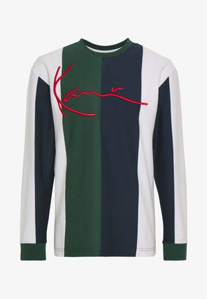 SIGNATURE STRIPE LONGSLEEVE - Top sdlouhým rukávem - green/white/navy/red