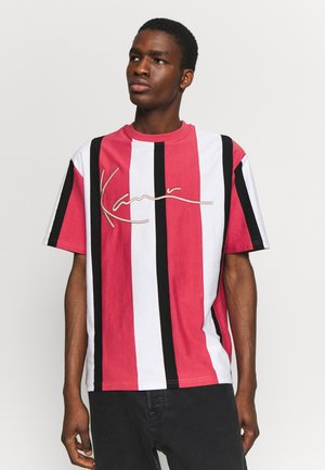 UNISEX SIGNATURE STRIPE TEE - Print T-shirt - red