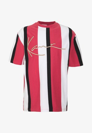 UNISEX SIGNATURE STRIPE TEE - T-shirt imprimé - red