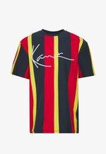 UNISEX SIGNATURE STRIPE TEE - T-Shirt print - navy