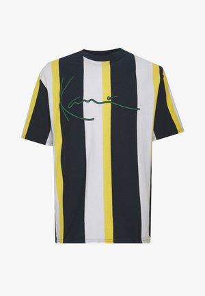 UNISEX SIGNATURE STRIPE TEE - Print T-shirt - navy