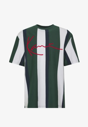 UNISEX SIGNATURE STRIPE TEE - T-shirt print - green