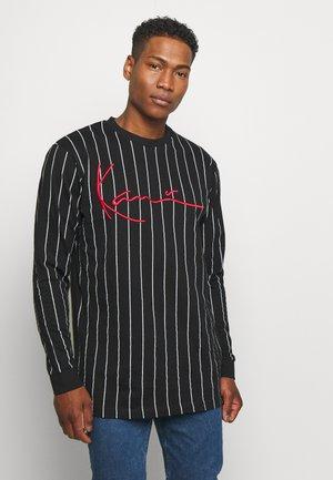 SIGNATURE PINSTRIPE  - T-shirt à manches longues - black