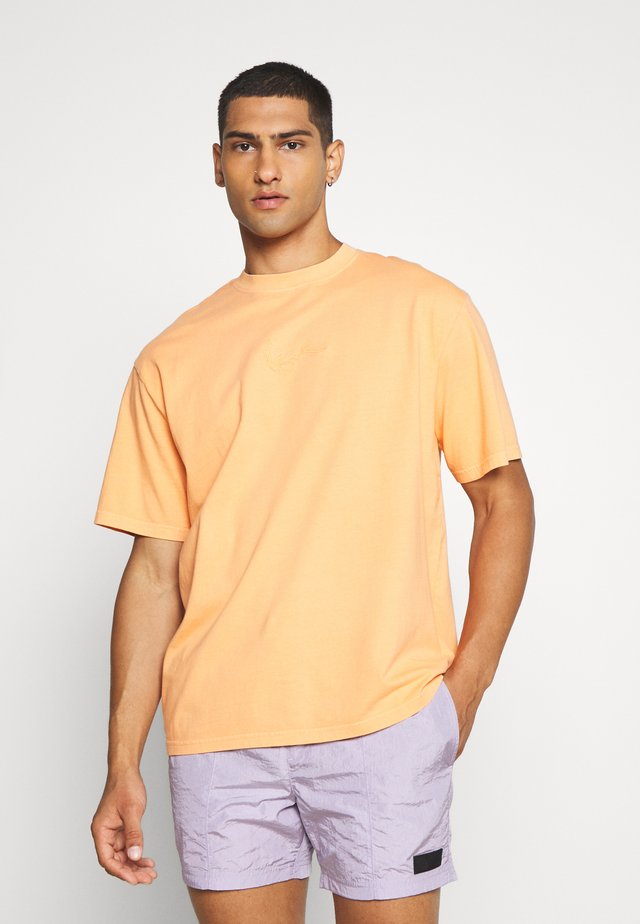 WASHED SMALL SIGNATURE TEE - T-shirts - orange