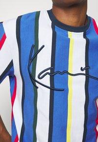Karl Kani - STRIPE TEE - Print T-shirt - white - 5
