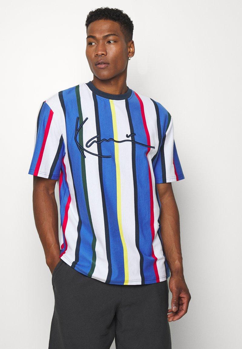 Karl Kani - STRIPE TEE - Print T-shirt - white