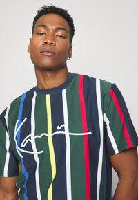 Karl Kani - STRIPE TEE - T-shirt print - navy - 3