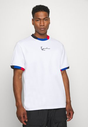 SMALL SIGNATURE BLOCK TEE - T-Shirt print - white