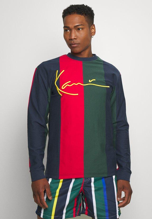 SIGNATURE STRIPE - Langærmede T-shirts - navy