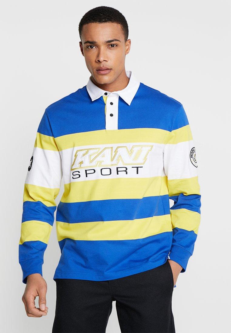 Karl Kani - BLOCK RUGBY - Polo - blue/yellow/white