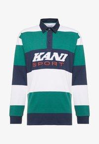 Karl Kani - SPORT RUGBY - Polo - green/white/navy - 4