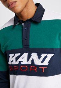Karl Kani - SPORT RUGBY - Polo - green/white/navy - 5
