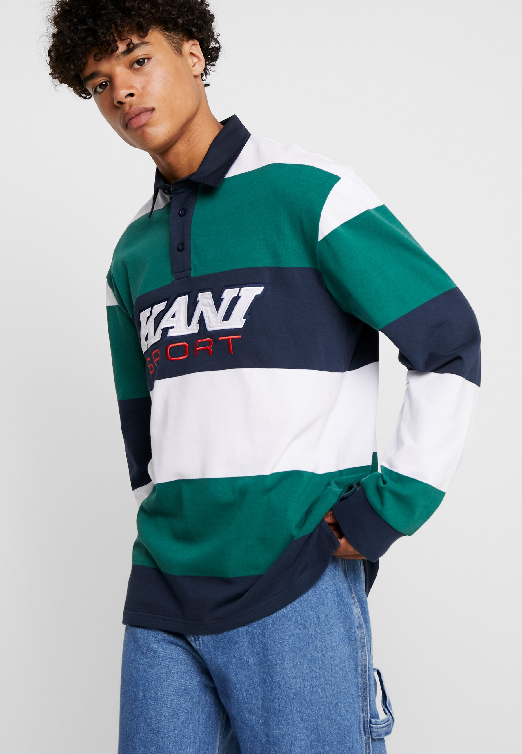 Sport Green white Karl Kani RugbyPolo navy WYDE2e9HIb