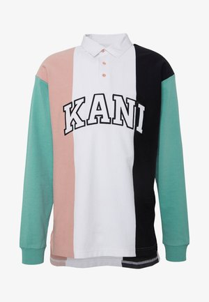 UNISEX COLLEGE BLOCK RUGBY - Poloshirts - white/turquoise/pink/black