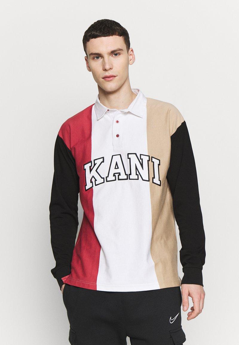 Karl Kani - UNISEX COLLEGE BLOCK RUGBY - Poloshirt - white/black/red/camel