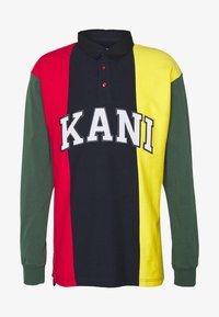 Karl Kani - UNISEX COLLEGE BLOCK RUGBY - Polo - navy - 4