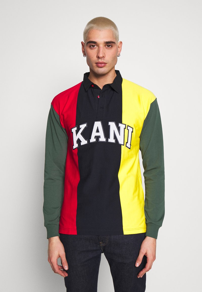 Karl Kani - UNISEX COLLEGE BLOCK RUGBY - Polo - navy