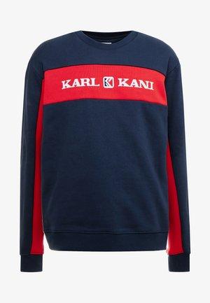 RETRO BLOCK CREW - Sweater - navy/red
