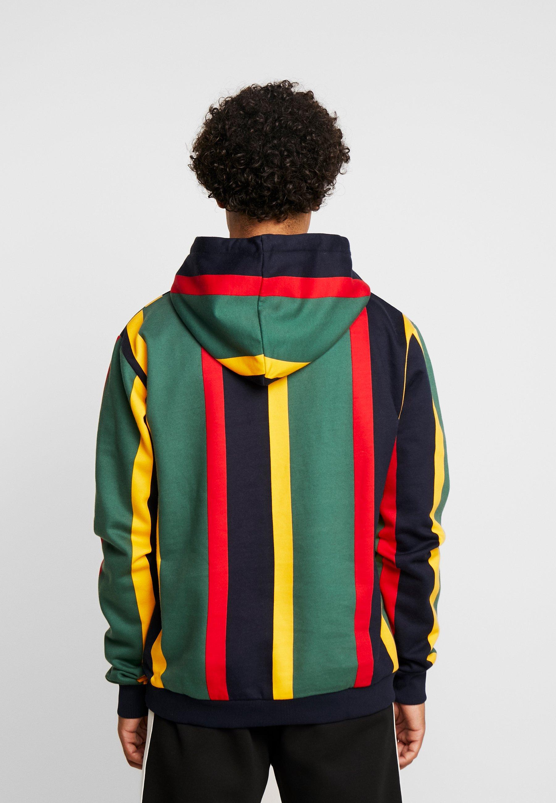 Karl Kani SIGNATURE HOODIE - Bluza z kapturem - green/red/yellow/navy