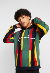 Karl Kani - SIGNATURE HOODIE - Mikina s kapucí - green/red/yellow/navy - 3