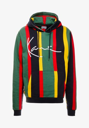 SIGNATURE HOODIE - Jersey con capucha - green/red/yellow/navy