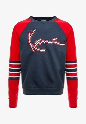 SIGNATURE BLOCK CREW - Sweatshirt - navy/red/white