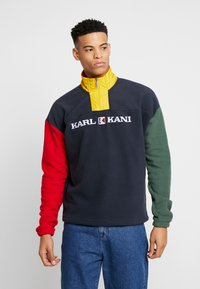 Karl Kani - RETRO BLOCK  - Fleece trui - navy/red/green/yellow - 0