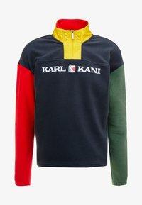 Karl Kani - RETRO BLOCK  - Fleece trui - navy/red/green/yellow - 4