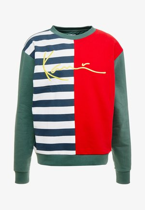 SIGNATURE BLOCK CREW - Sweatshirt - navy/white/red/green