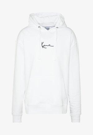 SIGNATURE HOODIE - Jersey con capucha - white/black