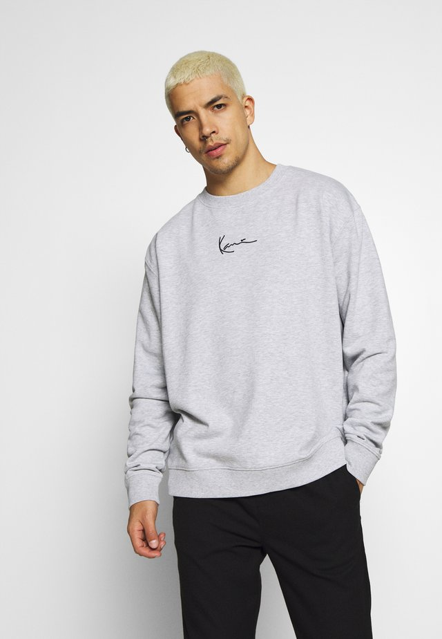SIGNATURE CREW - Sweatshirt - grey/black