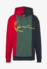 Karl Kani - SIGNATURE BLOCK HOODIE - Hoodie - grey/navy/white - 5