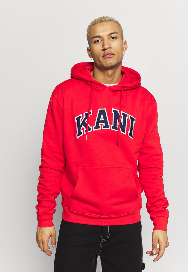 COLLEGE HOODIE - Hoodie - red/navy/white