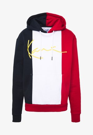 UNISEX SIGNATURE BLOCK HOODIE - Mikina s kapucí - red