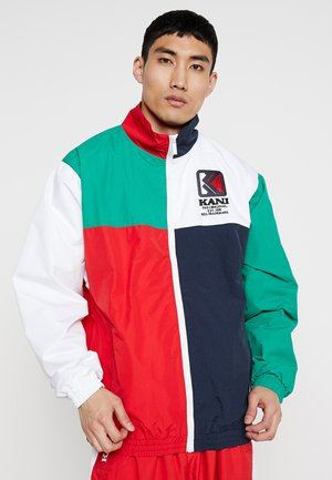 TRACKJACKET - Trainingsvest - navy/green/red/white